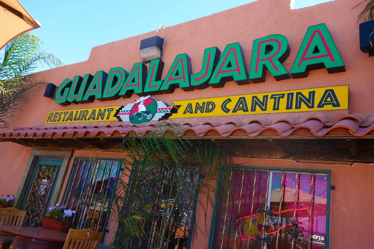 The storefront for Guadalajara Mexican Restuarant - Homemade and Fresh Mexican Food